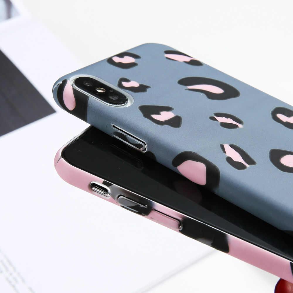 KISSCASE leopardo patrón caso rojo mi nota 6 Pro 7 4 4X4 5X5 Plus Lu mi nous teléfono caso para Xiaomi mi A2 A1 8 9 cubierta teléfono móvil F1