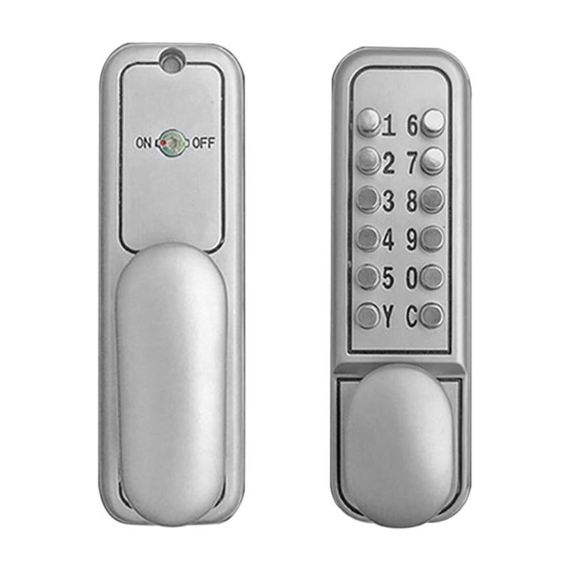 US $49 66 38% OFF|Mechanical Digital Push Button Door Lock Smart Home  Waterproof Keyless Keypad Code Combination Lock Password Intelligent  Lock-in
