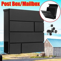 Stainless Steel Metal Mail Box Case Newspaper Letter Wall Mounted Paint Mailbox Post Box Lockable Box Garden Ornament