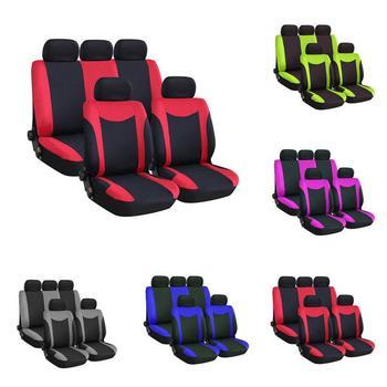 9 częściowy zestaw fotelik pokrywa przednia tylne siedzenia uniwersalny oddychające wygodne odporna na zużycie pokrowce dla Gm siedzenia tanie i dobre opinie 660g Poliester Seat Cushion Podstawową Funkcją Cztery pory roku ToHuu Pokrowce i podpory Support 9 sets of car seat cover