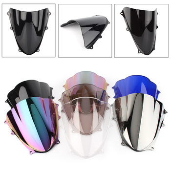 For Suzuki GSXR1000 K9 Motorcycle Windshield Windscreen Double Bubble GSXR 1000 2009 2010 2011 2012 2013 2014 2015 2016 ABS aluminum radiator guard cover grille for suzuki gsx r1000 gsxr 1000 2009 2010 2011 2012 2013 2014 2015 2016 oil cooler protector