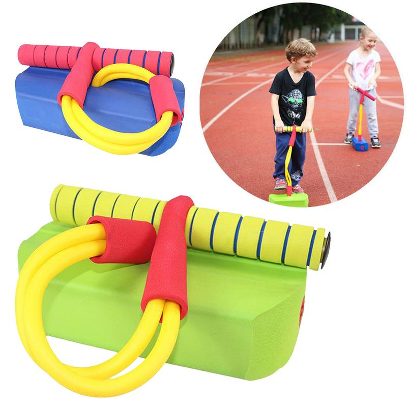 Foam Pogo Jumper Deluxe Bungee Boing For Kids Fun And Safe Pogo Stick Durable Foam And Bungee Jumper For Ages 2 Up Toddler Toys
