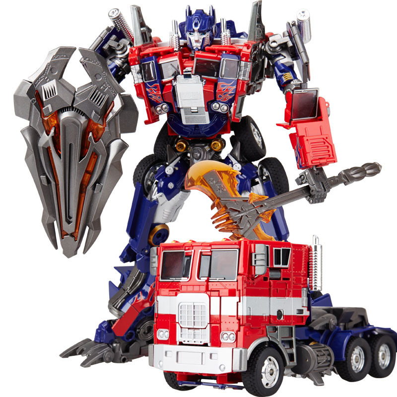 Free Shipping Classical Model Transformation OP Anime Car Movie Action Deformed Robot car Oversize 31CM For Kid Model Toys Gift