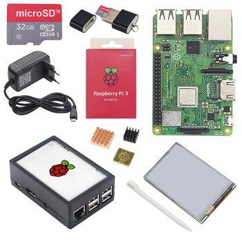 W wielkiej brytanii Raspberry Pi 3 Model B + LCD zestaw + 3.5 cal ekran dotykowy + Daul wykorzystanie etui z ABS + 32 GB karta SD + 3A zasilacz + radiatory