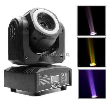 60W RGBW LED Moving Head Stage Light With Halo,Mini High Brightness 60W LED Beam Light With RGB LED Light Strip,DJ Spot Lighting