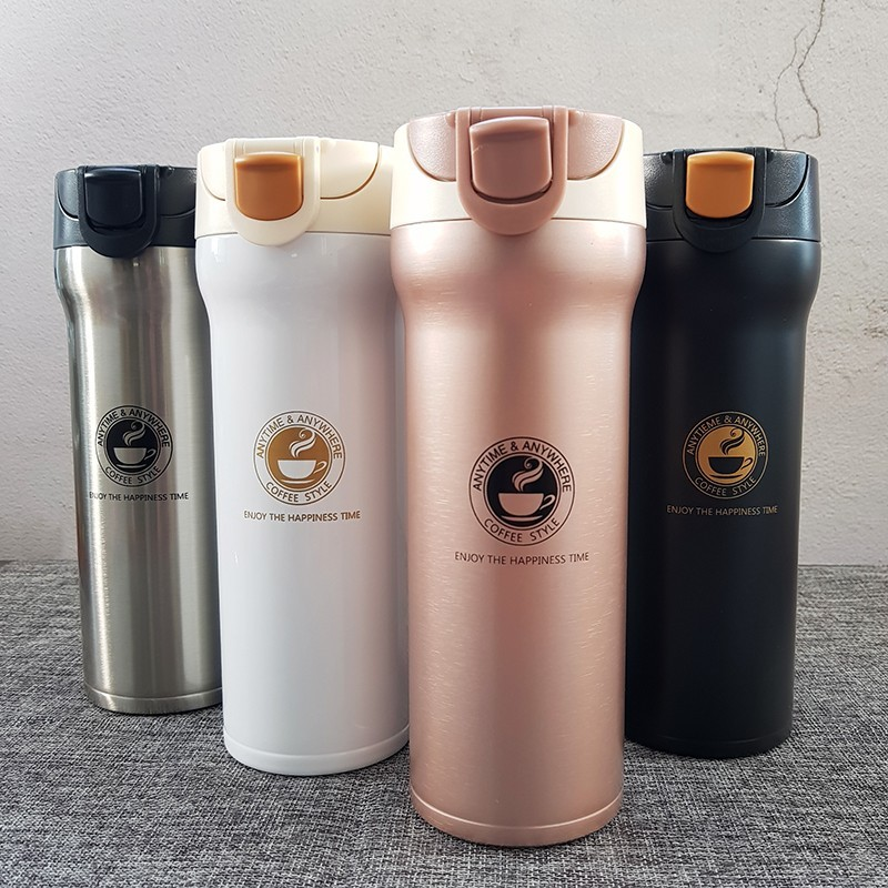 Stainless Steel Thermos Cups Thermocup Insulated Tumbler Vacuum Flask Garrafa Termica Thermo Coffee Mugs Travel Bottle Mug(China)