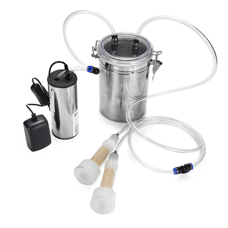 110 220V 2L Electric Ewe Milking Machine Vacuum Pump Milker Double Head US EU AU Plug