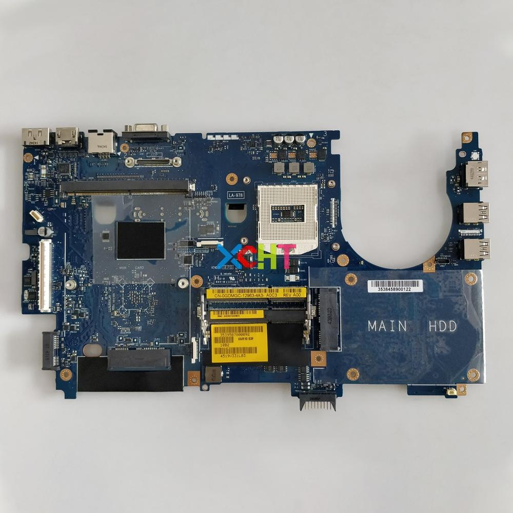 CN 0GDMGC 0GDMGC GDMGC PGA947 VAR10 LA 9782P for Dell Precision M6800 Laptop NoteBook PC Motherboard Mainboard Tested-in Laptop Motherboard from Computer & Office