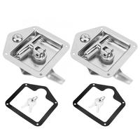 Camping Folding Stainless Steel Folding T Shape Handle Lock Tool Box Keys Kit for Truck Trailer Car Repair Tools