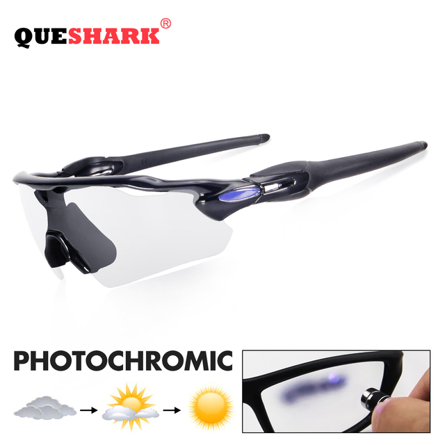1ee961d67e Gafas de sol ciclismo fotocrómicas QUESHARK MTB gafas bicicleta para  hombres y mujeres