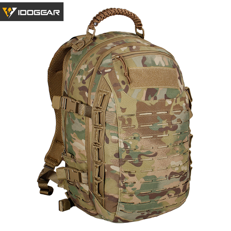IDOGEAR Dragon Bag Training Backpack Military Travelling Multi purpose action Molle hiking Laser cutting BG3501 Multicam