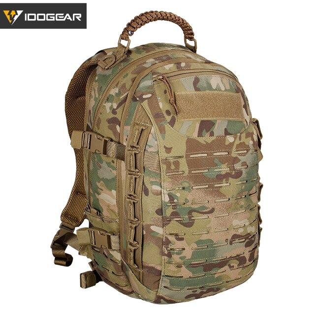 Idogear Naga Tas Pelatihan Ransel Militer Saran dan Fakta Multi-Tujuan Aksi Molle Hiking Laser Cutting BG3501 MultiCam Hitam