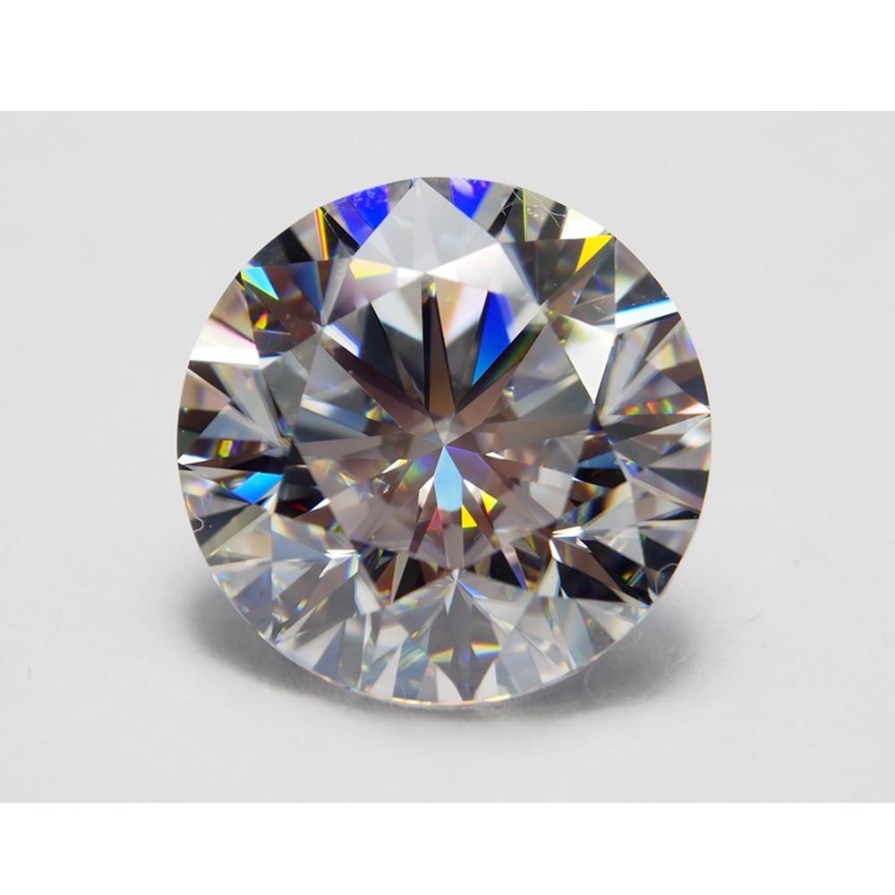 10.Carat Off White Loose Moissanite Lot Round Brilliant Cut Gemstones For Ring