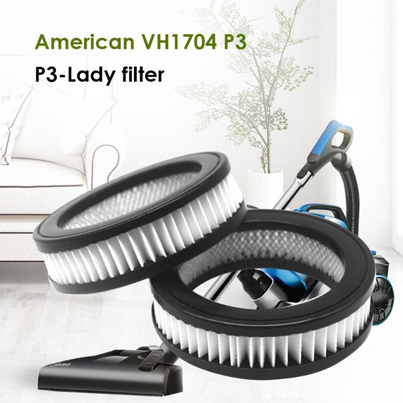 100mm*100mm*28mm/75mm*75mm*10mm Vacuum Cleaner Accessories Dust Hepa Filter For Midea VH1704 P3 P3-Lady Washable Cotton Filter