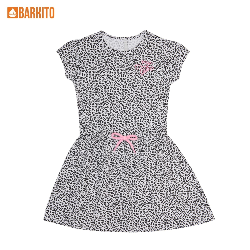 Dresses Barkito 339047 children clothing Cotton White Casual 5T45A-30061KOR цены онлайн