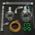 KICUTE 1000 мл дистилляционный аппарат посуда для химической лаборатория комплект химический лабораторный аппарат дистилляции стекла 24/29
