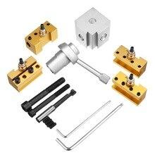 цена на Quick Change Post Holder Kit Set Tool Holder Boring Bar Turning Tool Holder For Cnc Mini Lathe