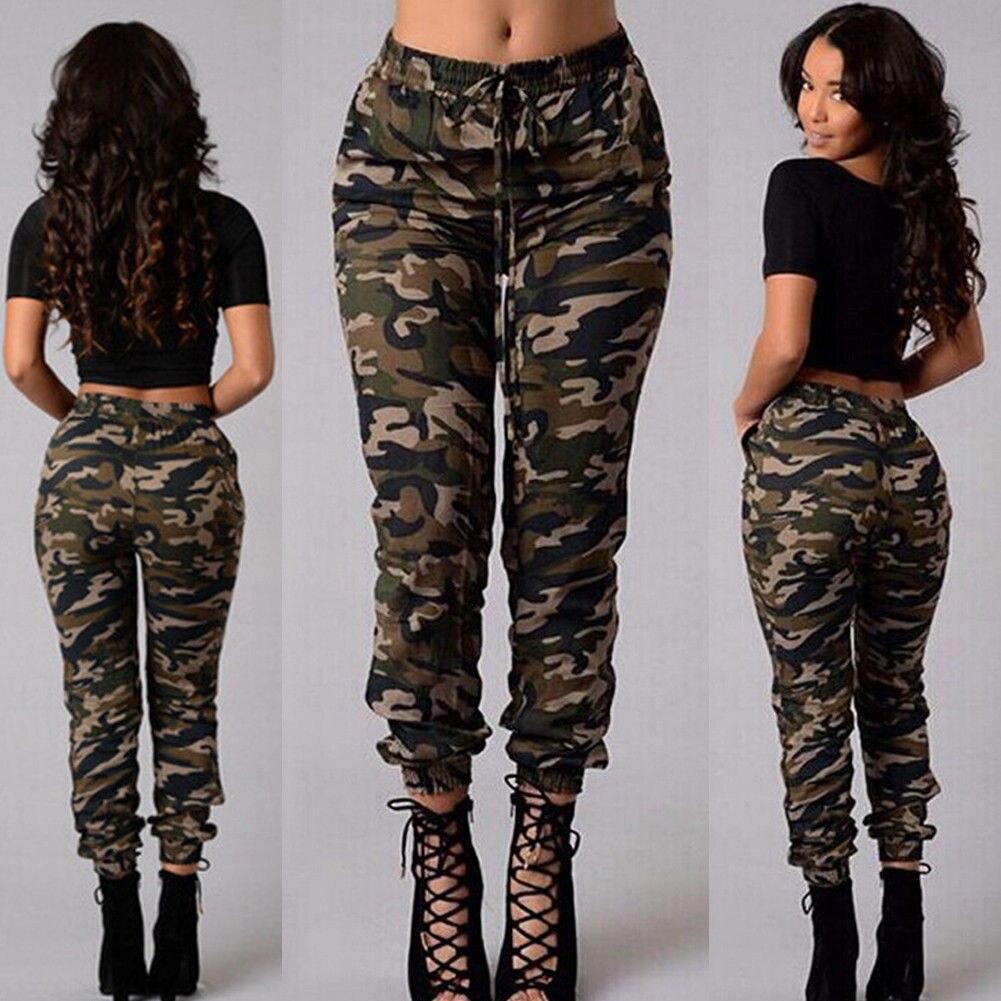 Womens Camouflage Army Printed Trouser Ladies Denim Skinny Fit Slim Jeans Pants