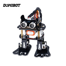 Domibot DIY 4DOF Robot Kit Program Ultrasonic Learning Kit for Arduino Children Toys Gift(China)