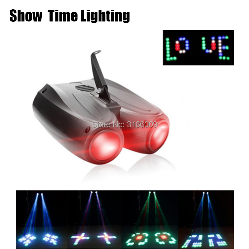 SHOW TIME LED Russia Diamonds Double Head Airship Light 128LED RGBW Moon DJ Party Disco Light Sound Work Carton Building Block