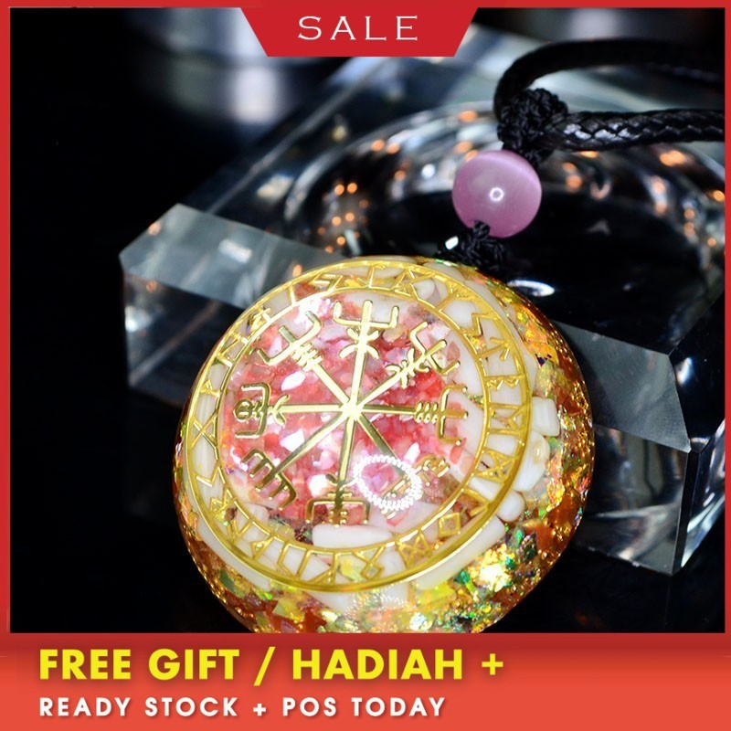 Orgonite Pendant Energy Crystal Converter Resin Crafts Reiki Pendant Improve Marriage Bring Lucky Jewelry For Women