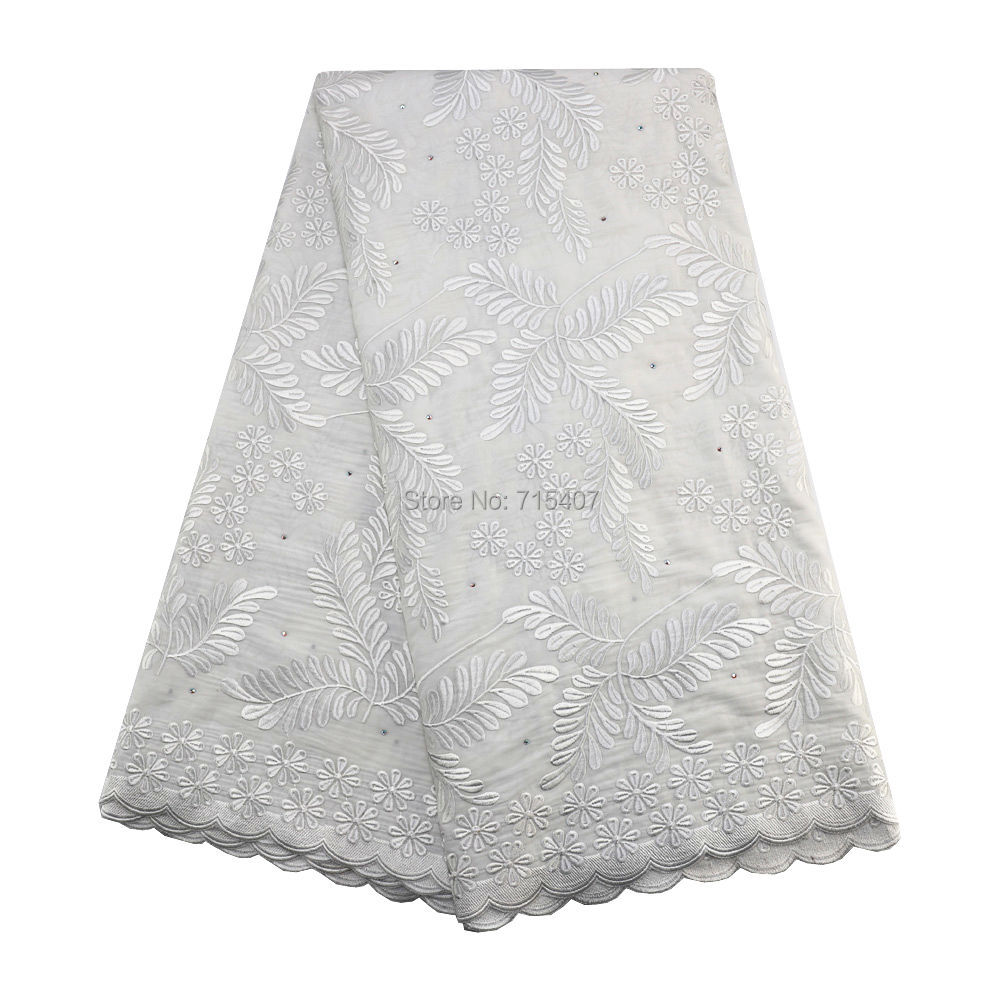 High Quality 100 Cotton Materials African Swiss Lace Fabrics 098 Nigeria Lace 2019 In Beige Bridal