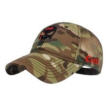 T S N K Camouflage Men Women Running Cap Hat Amercian Punisher SEAL Team Cotton Hat Adjusted Snapback Baseball Cap cheap Sunshade Solid