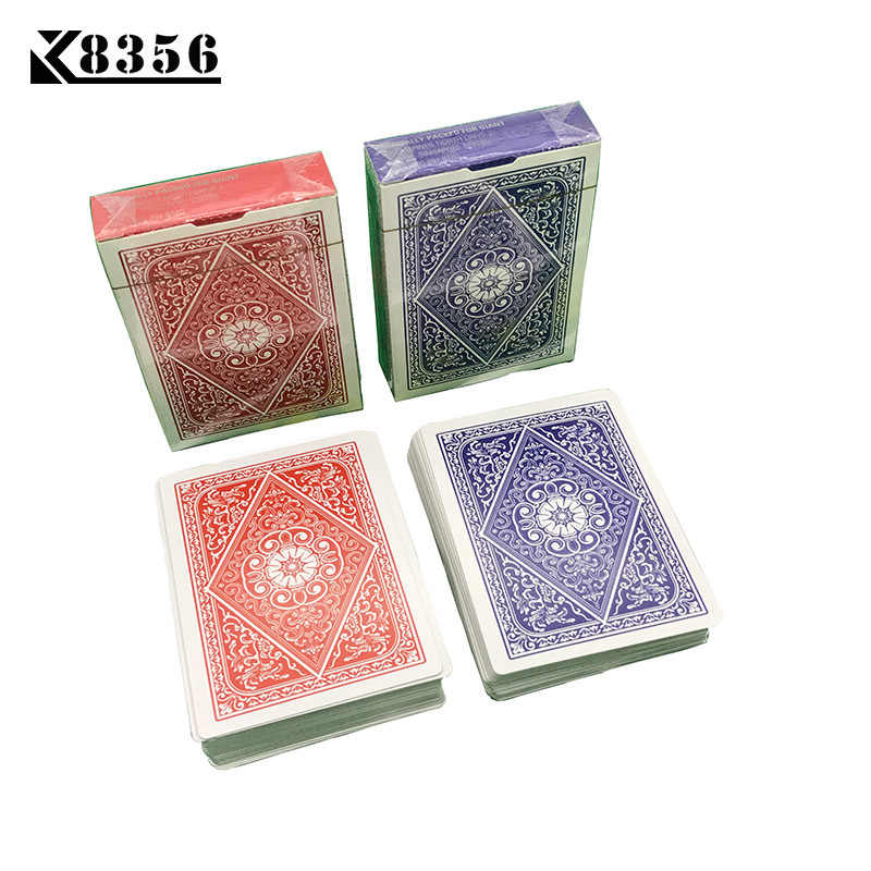K8356 1Set Little Letters Texas Hold'em Paper Playing Cards Smooth Poker Cards Deck Baccarat Board Game Card 2.48*3.46 inch