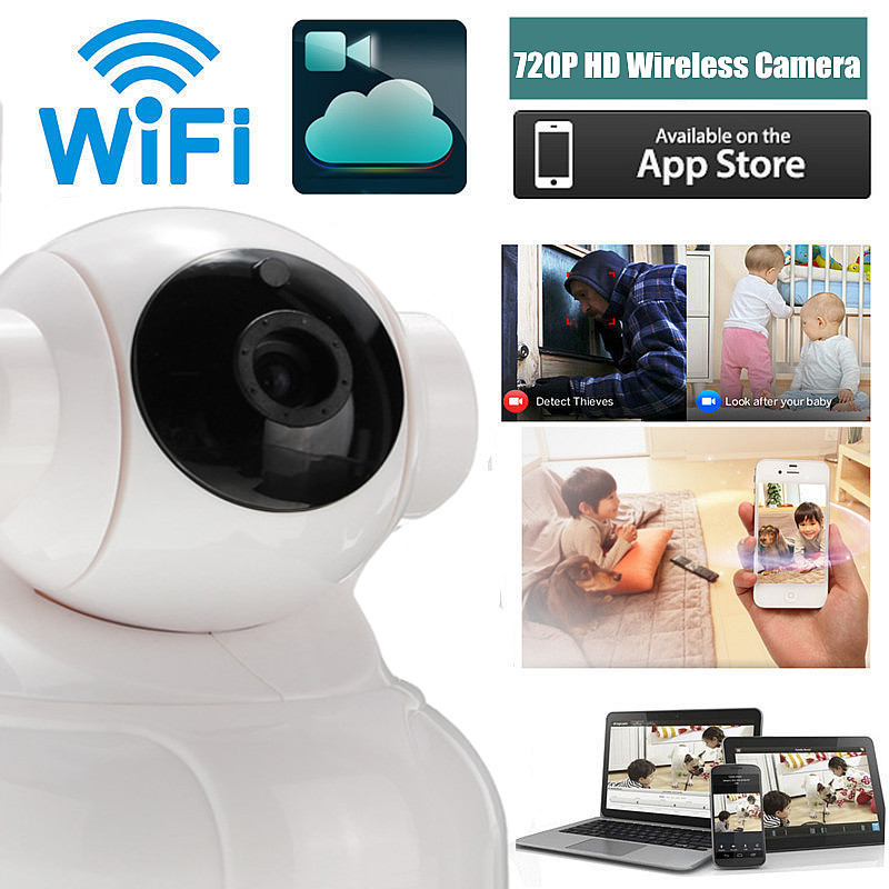 Mini Wireless WiFi 720P HD Network CCTV HOME Security IP Camera MonitorMini Wireless WiFi 720P HD Network CCTV HOME Security IP Camera Monitor
