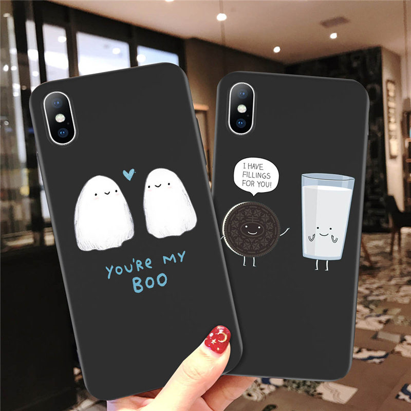Ottwn Fashion Cartoon Phone <font><b>Case</b></font> For <font><b>iPhone</b></font> 6 6s <font><b>7</b></font> 8 Plus 5 5s SE Soft TPU Cute Cat <font><b>Dinosaur</b></font> Pattern <font><b>Case</b></font> For <font><b>iPhone</b></font> X XR XS Max image