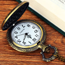 Vintage Bronze Quartz Pocket Watches Fairy Them Pendant Chain Clock Birthday Gift pocket watch Fashion accessories цена