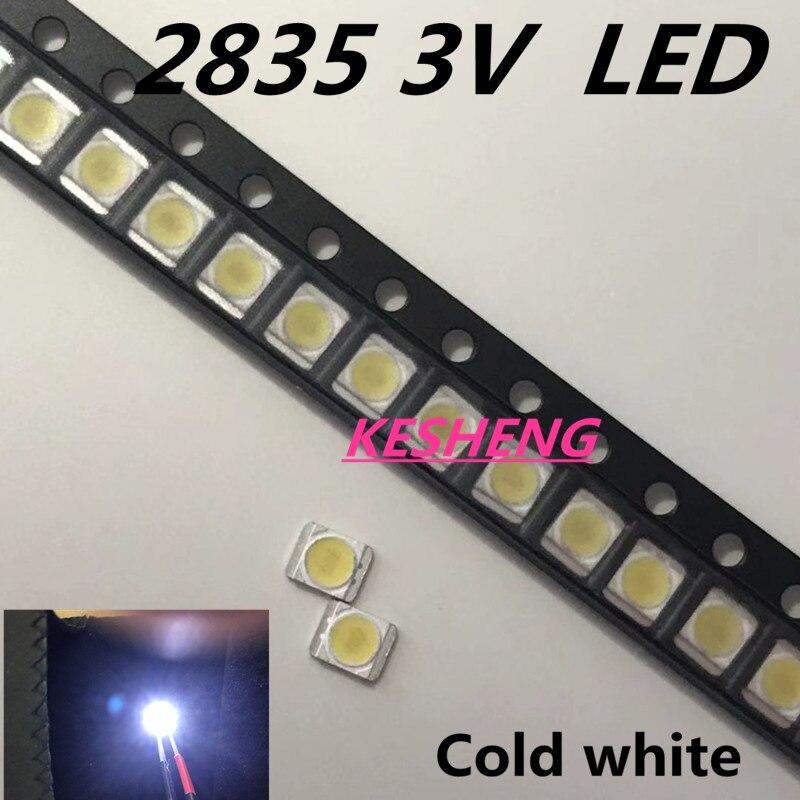 120pz/lotto por lg smd led 3528 2835 1 w 3 v bianco freddo por tv/lcd retroiluminato