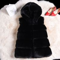 Faux Fur Coat Winter Women 2018 Casual Hoodies Warm Slim Sleeveless Faux Fox Fur Vest Winter Jacket Coat Women casaco feminino