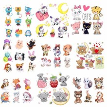 Pulaqi Kawaii Unicorn Heat Transfers A Level Washable Clothes Stickers DIY Cute Animal T-Shirt Decor Applique Iron On