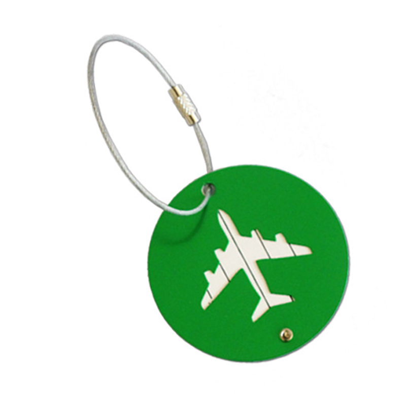 New Luggage Tag Travel Accessories Aircraft Round Shape Portable Secure Travel Suitcase Label Best Love