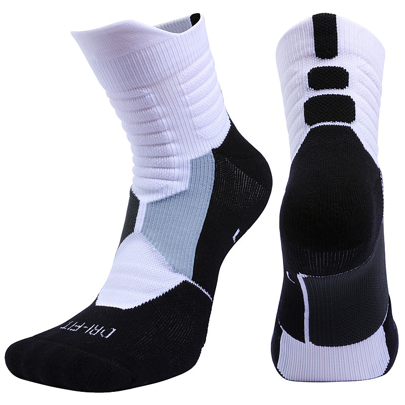 Unisex 1 Pair Compression Sport Men Women Children Kids Running Cycling Basketball Deodorant Sweat Towel Socks Breathable