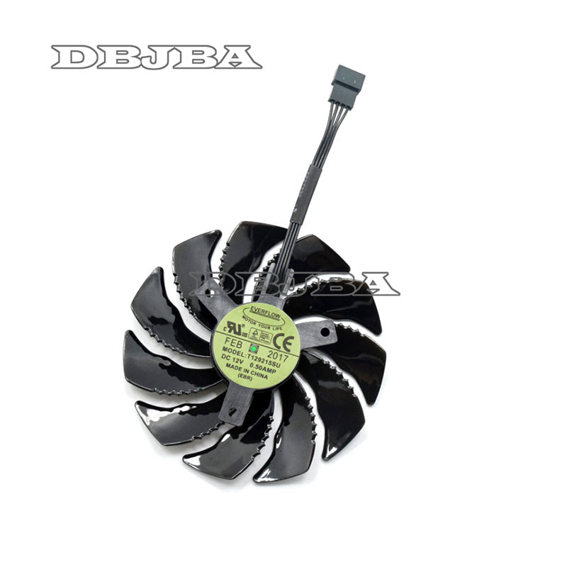 88mm T129215SU Graphics Card Cooling Fan For <font><b>Gigabyte</b></font> GeForce <font><b>GTX</b></font> <font><b>1050</b></font> <font><b>Ti</b></font> RX 480 470 570 580 <font><b>GTX</b></font> 1060 G1 Gaming Cooler (Fan-A) image