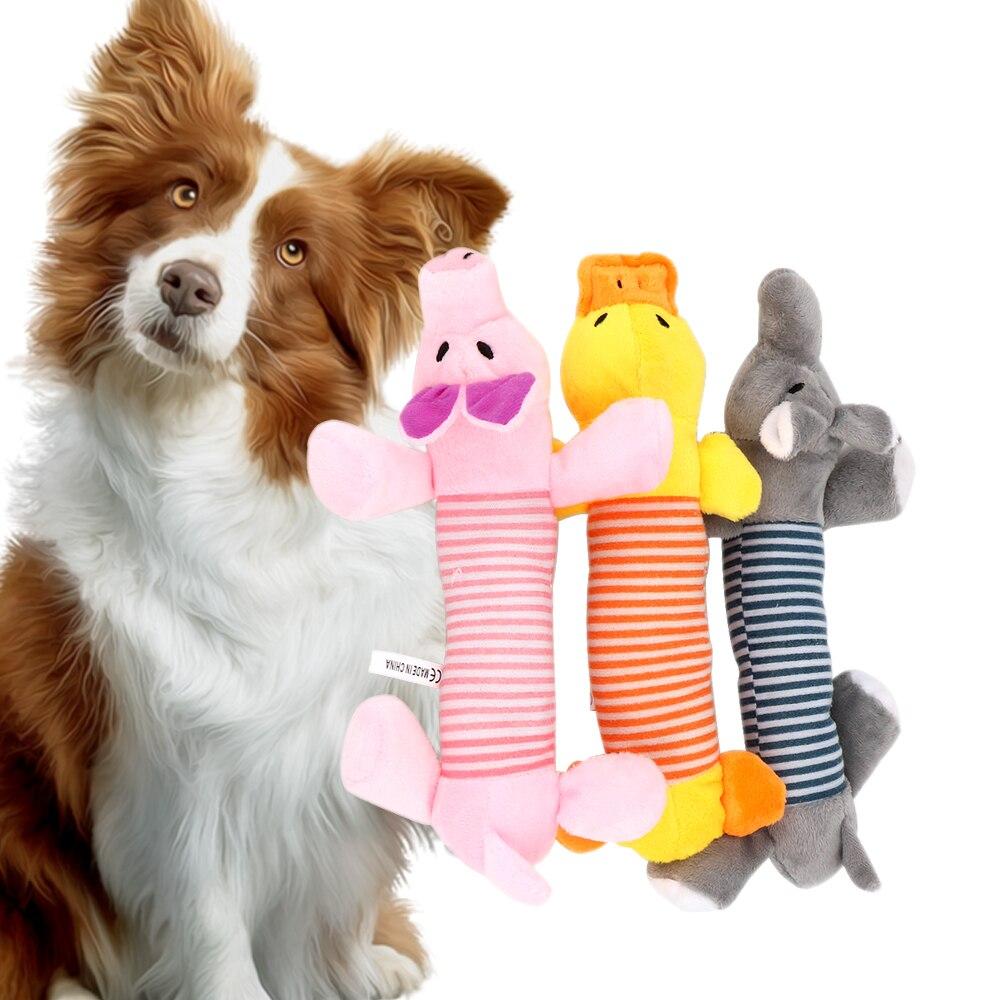 Пищащая Жевательная деталь, куклы, собака, кошка, флисовый питомец, слон, утка, свинья, подходит для всех домашних животных, долговечность-1