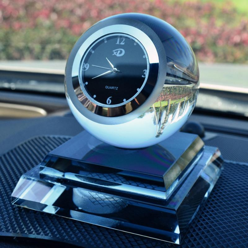 Car Crystal Perfume Clocks Perfume Decoration Crystal Balls Watches Clocks Car Perfume Cars Innovative Gifts Decorations