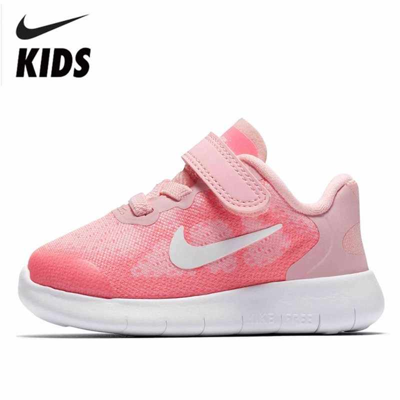 5743b617891af Nike FREE RN Girl Toddler Light Ventilation Magic Subsidies Children Motion  Casual Shoes Running Shoes