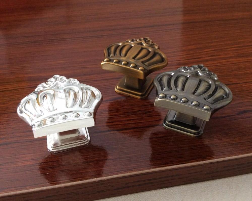 Crown Knobs Dresser Knob Drawer Knobs Pulls Handles  Cabinet Knobs Pull Handle  Decorative Furniture Knob Brass Hardware