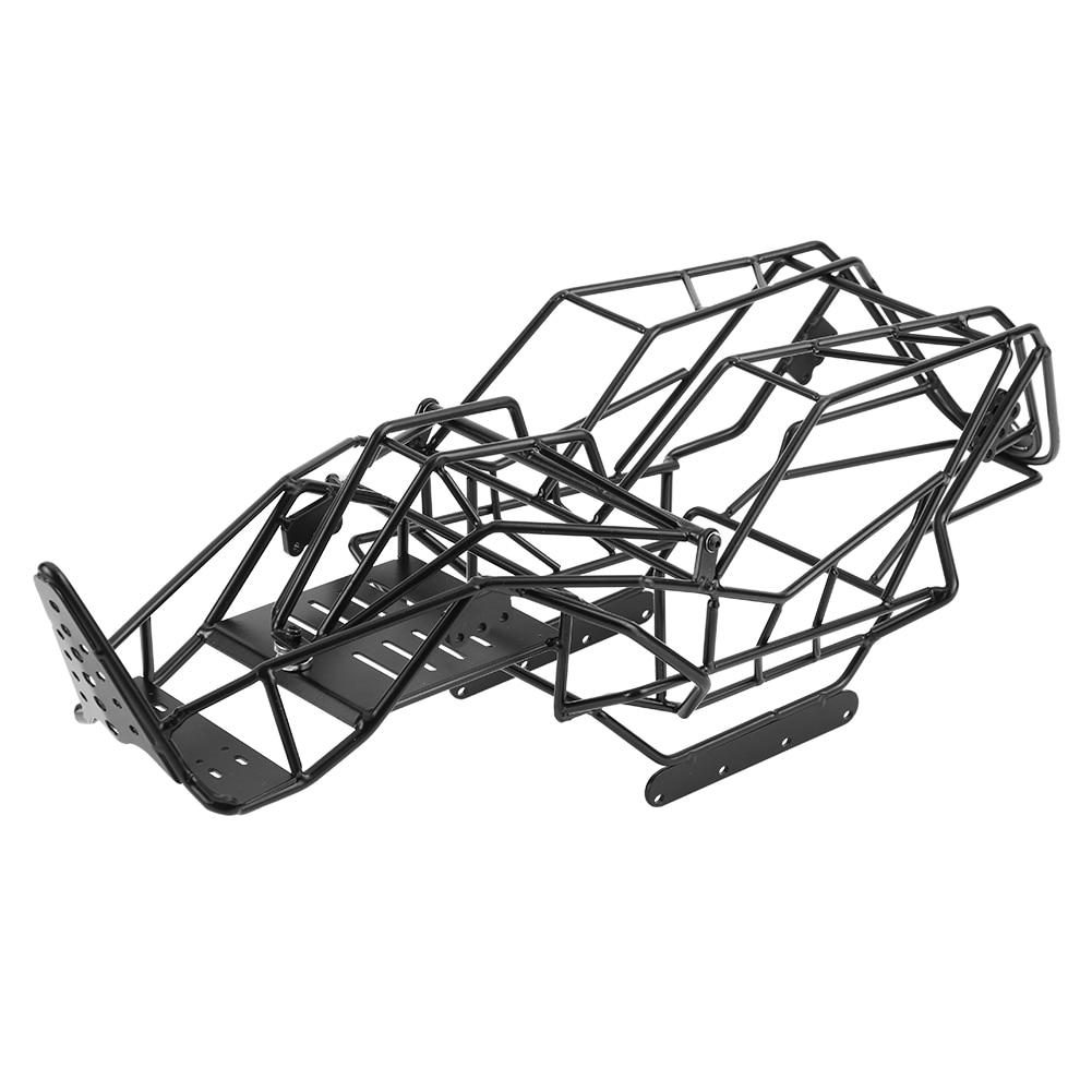 Oyuncaklar ve Hobi Ürünleri'ten Parçalar ve Aksesuarlar'de Siyah Metal Rulo Kafes Şasi Çerçeve Eksenel Wraith için 90018 1/10 Ölçekli RC Araba Sert Şasi Ile mükemmel tasarım RC parça'da  Grup 1