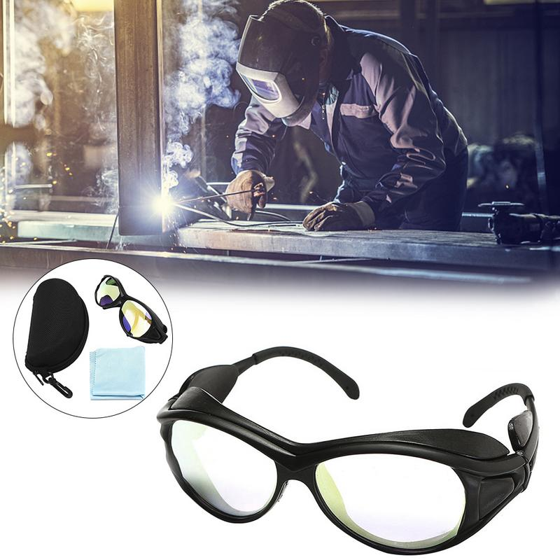 7 Protective Laser Goggles W/ CO2 10600nm OD Double-Layer Glasses Eyewear Safety Eye Protective Goggles Clear Safety Glasses