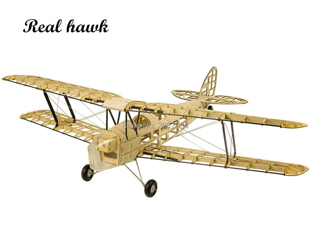 RC avions modèle Laser coupe échelle 980mm De Havilland DH82a Mini tigre papillon Balsa bois construction Kit bois modèle avion en bois