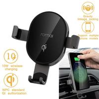 Xiaomi 70mai 10W/20W Qi Wireless Car Charger Mobile Phone Charging Accessories for iPhone Samsung Mobile Phone Holders Car Stand