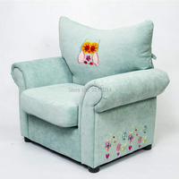 2018 Lovely Small Cartoon Sofa with Embroidery Patte Comfortable Living room leisure Bean bag sofa Students/Kids home furniture