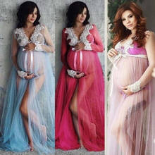 2019 Newest Style Pregnant Women Maternity Dress Long Sleeve Maxi Dress Ladies Dress Clothes Photography Photo Shoot(China)