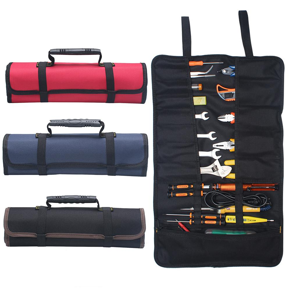Tool Bag Organiser Adjustable Shoulder Strap Wide Open Mouth Storage Bag For Power Tools Hardware No Tools