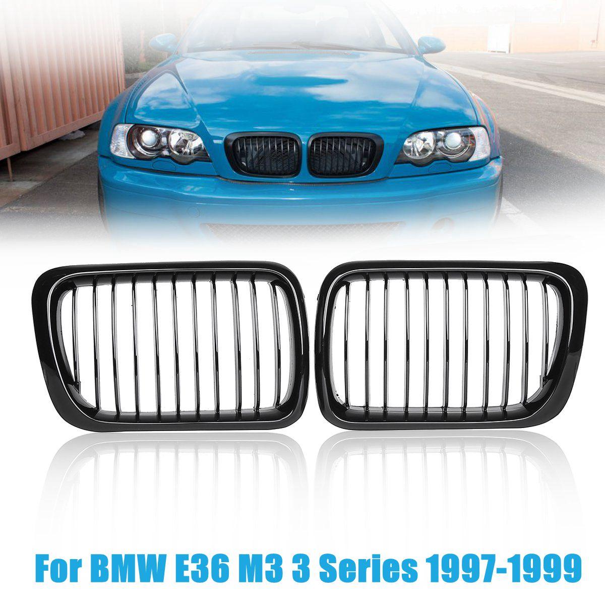 1 coppia #51138195 per BMW E36 M3 3 Serie 1997-1999 Gloss Black Griglia Anteriore Griglie Griglie Renali griglie anteriori1 coppia #51138195 per BMW E36 M3 3 Serie 1997-1999 Gloss Black Griglia Anteriore Griglie Griglie Renali griglie anteriori