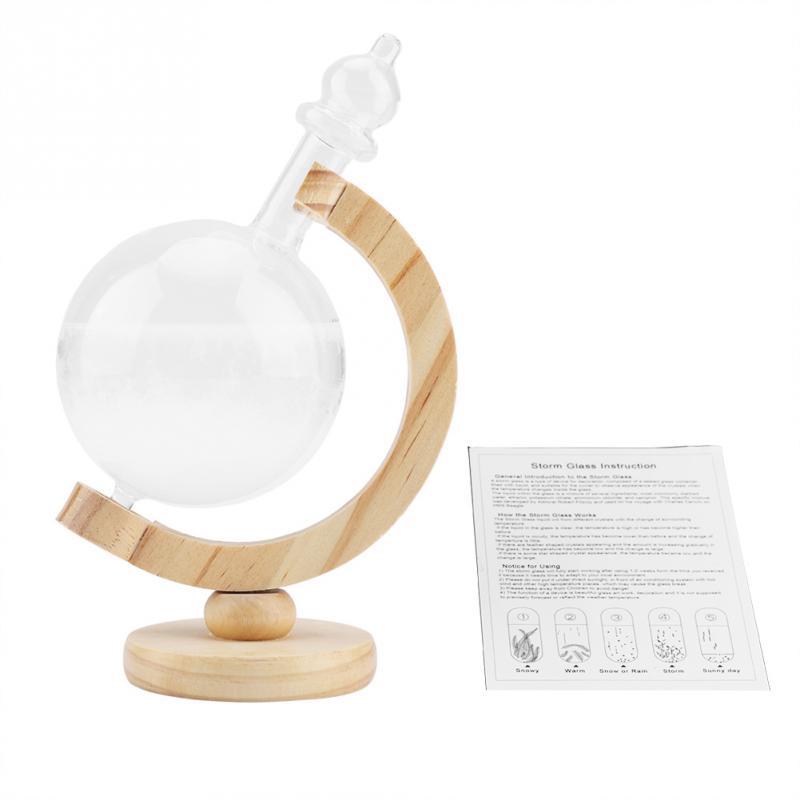 Creative Globe-Shaped Storm Glass Bottle Desktop Weather Station Weather Predictor Transparent Ball Storm Glass Home Decor(Hong Kong,China)